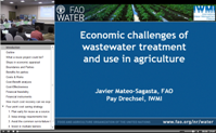 Javier Mateo-Sagasta, FAO and Pay Drechsel, IWMI